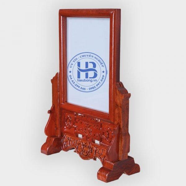 Khung ảnh thờ gỗ hương đục chân nền 20x25cm đẹp giá rẻ ở Hà Nội