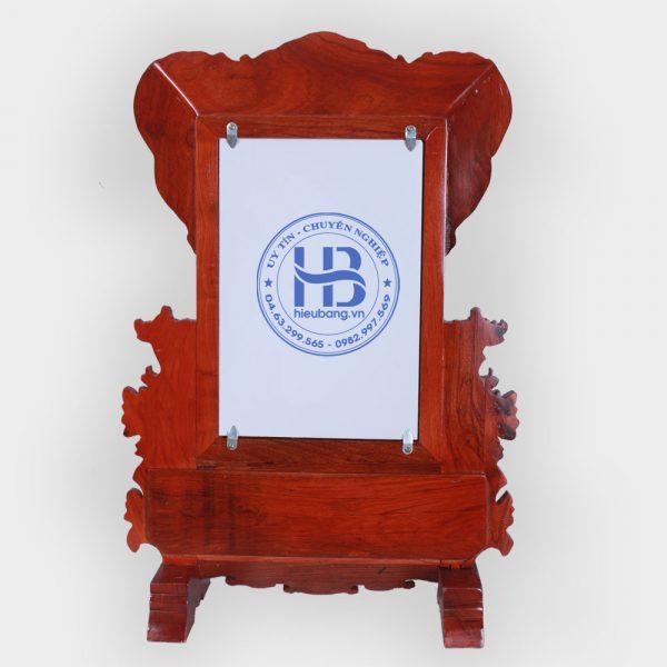 Khung ảnh thờ Hoa Mai gỗ Hương 20x30cm