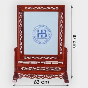 Khung ảnh thờ Kép gỗ Hương 63x87cm đẹp ở Hà Nội