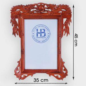 Khung ảnh thờ treo gỗ Hương đục Rồng đẹp giá rẻ ở Hà Nội