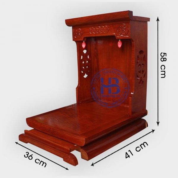Bàn thờ thần tài gỗ Sồi màu Hương 36cm đẹp giá rẻ ở Hà Nội