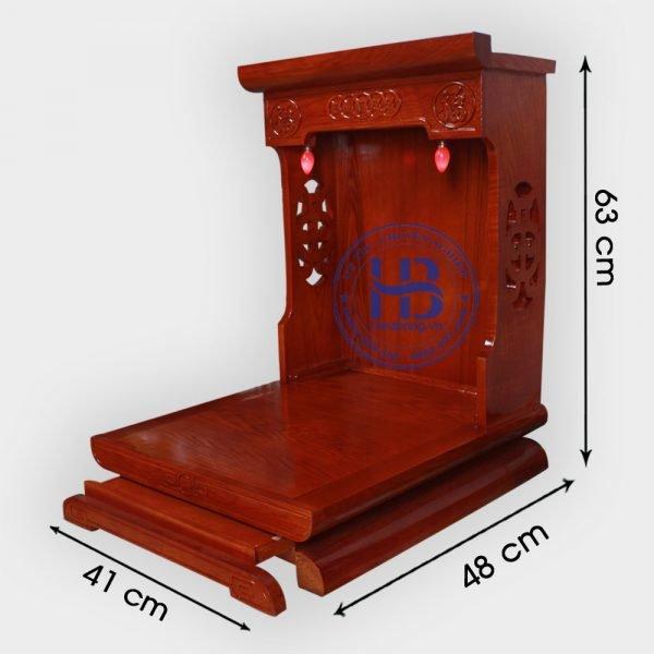 Bàn thờ thần tài gỗ Sồi màu Hương 41cm đẹp giá rẻ ở Hà Nội