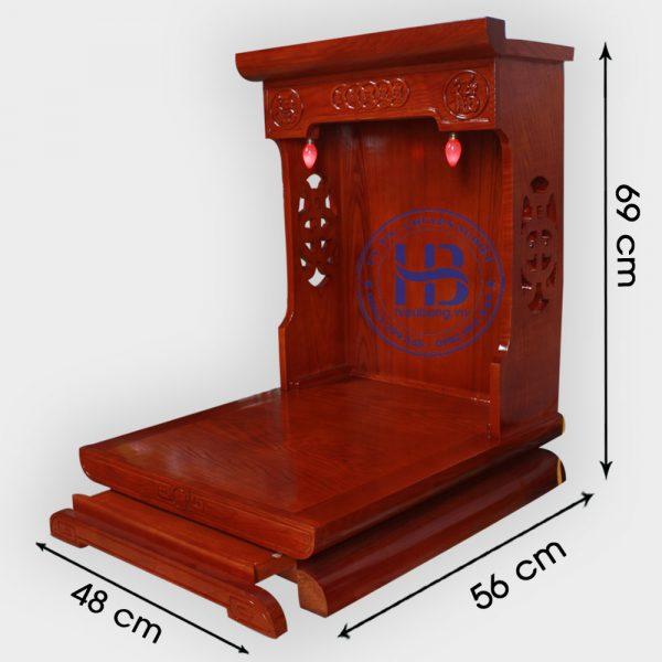 Bàn thờ thần tài màu Hương 41cm đẹp giá rẻ ở Hà Nội