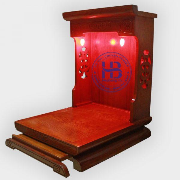 Bàn thờ thần tài gỗ Sồi màu Hương đẹp giá rẻ ở Hà Nội