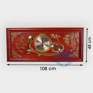 Đồng hồ tranh gỗ Hương chữ Lộc đẹp giá rẻ ở Hà Nội