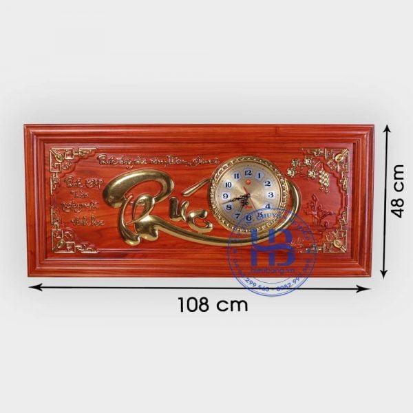 Đồng hồ tranh gỗ Hương chữ Phúc đẹp giá rẻ ở Hà Nội