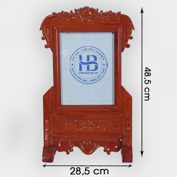 Khung ảnh thờ gỗ Hương đục nền 18x24cm đẹp giá rẻ ở Hà Nội