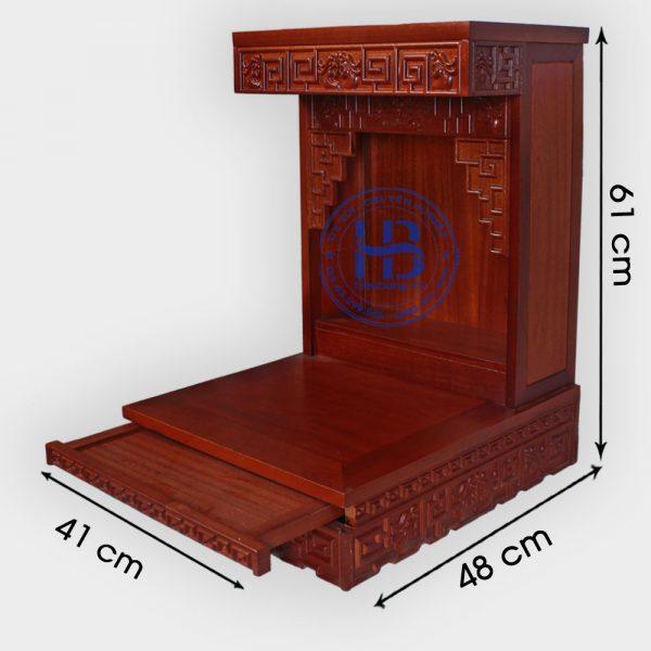 Bàn thần tài Zich Zắc gỗ Lát 41cm đẹp giá rẻ ở Hà Nội