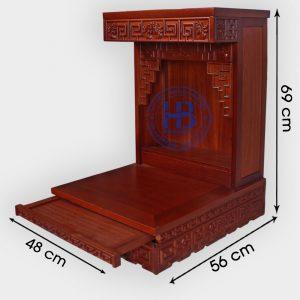 Bàn thần tài Zich Zắc gỗ Lát 48cm đẹp giá rẻ ở Hà Nội