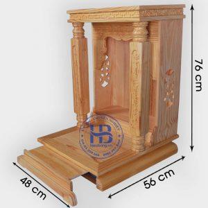 Bàn thần tài hiện đại gỗ Thông Mỹ cột vuông 48cmđẹp giá rẻ ở Hà Nội
