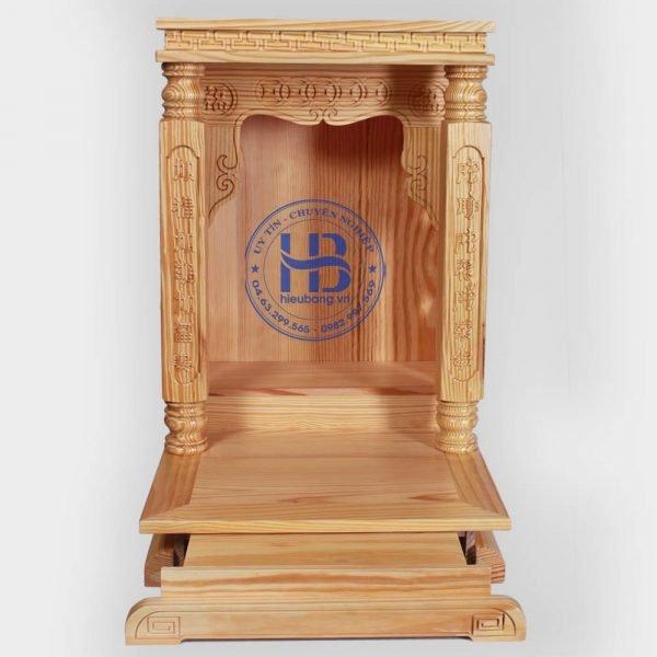 Bàn thần tài hiện đại gỗ Thông Mỹ cột vuông đẹp giá rẻ ở Hà Nội