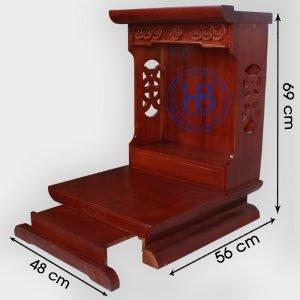 Bàn thần tài gỗ Thông Mỹ màu Hương 48cm đẹp giá rẻ ở Hà Nội