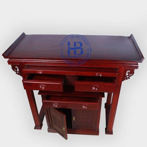 Bàn thờ gỗ Hương 153cm cao cấp đẹp giá tốt ở Hà Nội