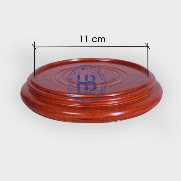 Đế kê gỗ Hương nguyên khối 11cm đẹp giá rẻ ở Hà Nội