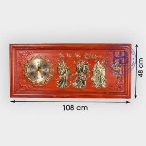 Đồng hồ tranh gỗ Hương Phúc Lộc Thọ 108cm đẹp giá rẻ ở Hà Nội