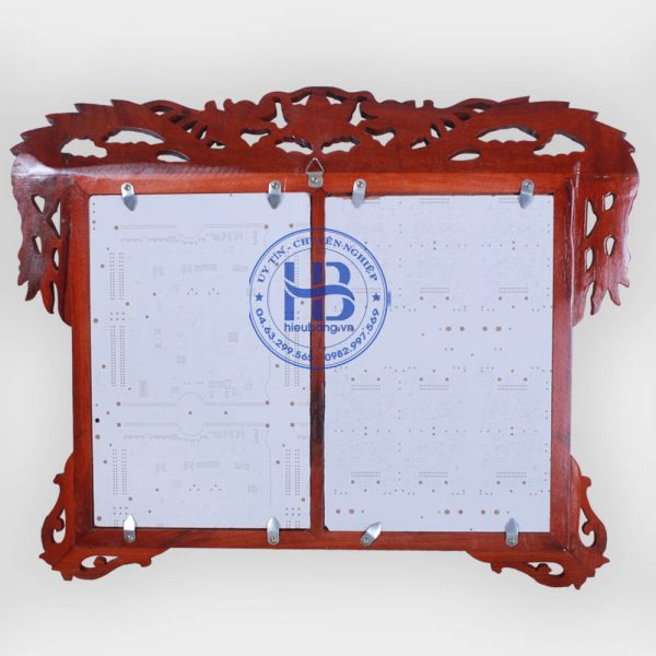 Khung ảnh thờ đôi treo tường 20x30cm đục rồng Bằng Gỗ Đẹp Giá Rẻ ở Hà Nội