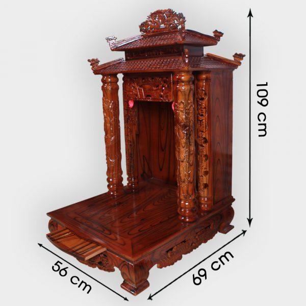 Bàn thần tài 8 mái gỗ thông 56cm đẹp giá rẻ ở Hà Nội