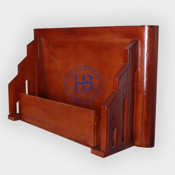 Bàn thờ treo gỗ sồi mặt nguyệt màu gụ đẹp giá rẻ ở Hà Nội