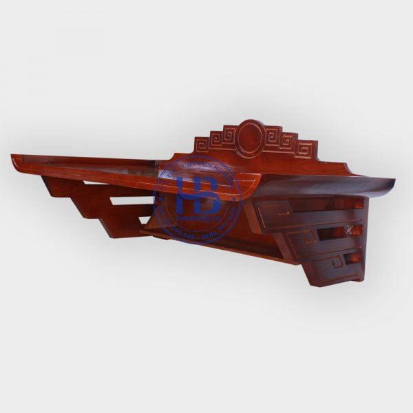 Bàn thờ treo gỗ sồi mặt nguyệt màu gụ 81x48cm đẹp giá rẻ ở Hà Nội