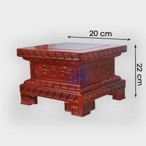 Đế vuông gỗ Hương chiện Sen đẹp giá tốt tại Hà Nội