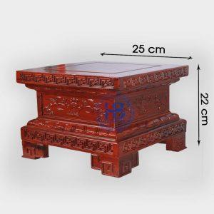 Đế vuông gỗ Hương chiện Sen 25x22cm đẹp giá tốt tại Hà Nội