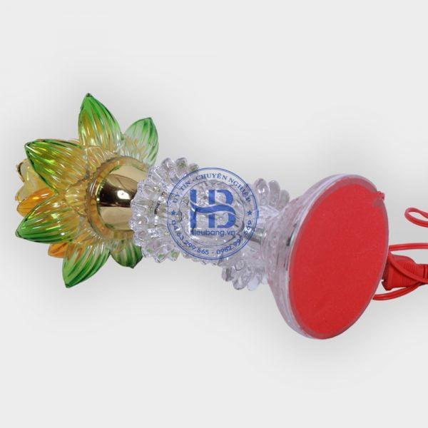 Đèn thờ thủy tinh 2 lá vàng đẹp giá rẻ ở Hà Nội