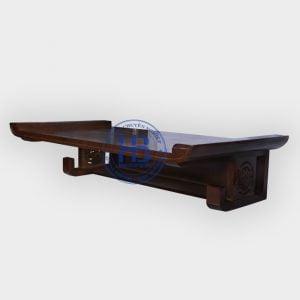 Bàn thờ treo gỗ sồi Thịt màu óc chó 81x48cm đẹp giá rẻ ở Hà Nội