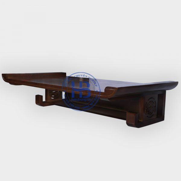 Bàn thờ treo gỗ sồi Thịt màu óc chó 89x48cm đẹp giá rẻ ở Hà Nội