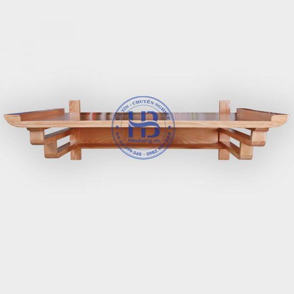 Bàn thờ treo tường gỗ Sồi 107x75cm gỗ thịt cao cấp tại Hà Nội