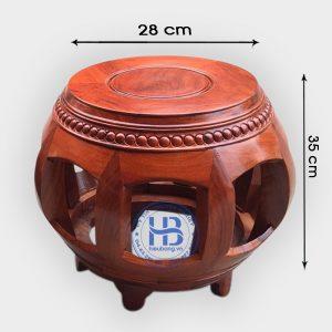 Đôn trống gỗ Hương 35cm đẹp giá rẻ tại Hà Nội