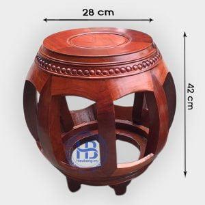 Đôn trống gỗ Hương 42cm đẹp giá rẻ tại Hà Nội