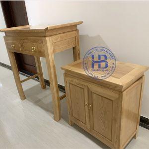Bàn thờ chung cư gỗ sồi127x61cm đẹp giá tốt tại Hà Nội