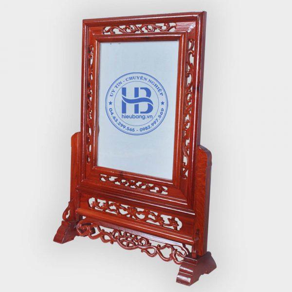 Khung ảnh thờ kép gỗ Hương 30x40cm
