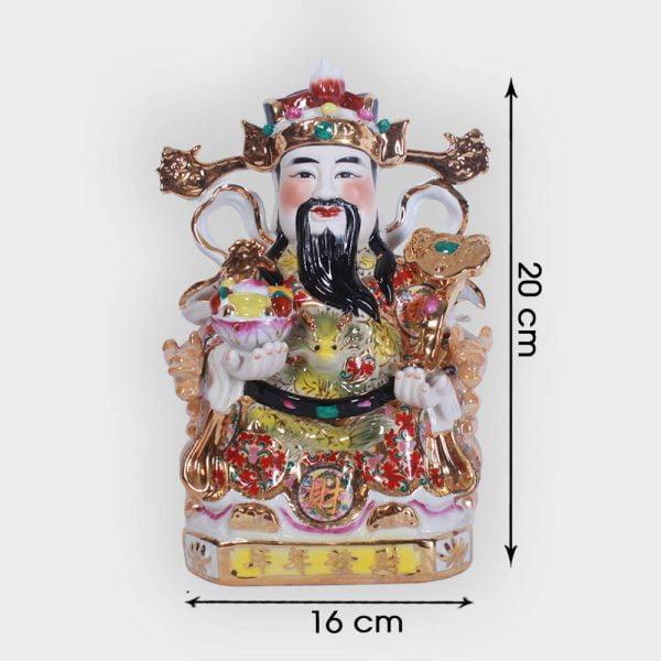 Ông thần tài phát lộc Gấm 20cm đẹp giá tốt tại Hà Nội