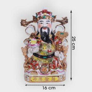 Ông thần tài phát lộc Gấm 25cm đẹp giá tốt tại Hà Nội