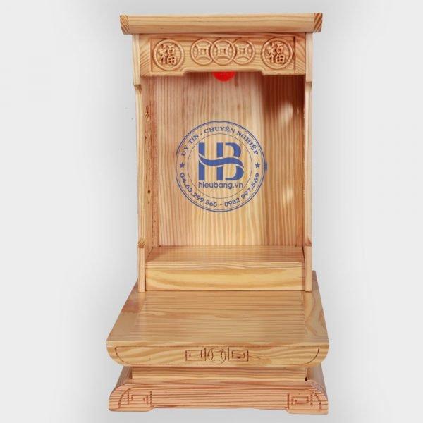 Bàn thờ thần tài hiện đại gỗ Thông Mỹ 31cm