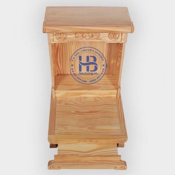 Bàn thờ thần tài hiện đại gỗ Thông Mỹ 36cm