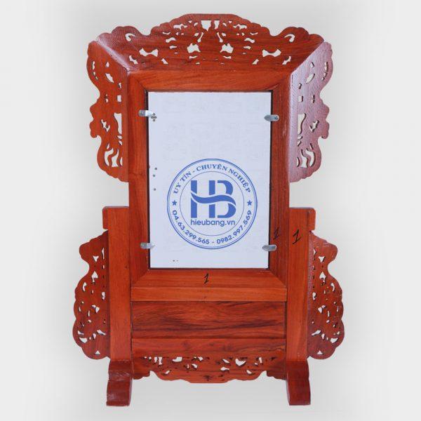 Khung ảnh thờ gỗ Hương Long Ly Quy Phượng cao cấp đẹp tại Hà Nội
