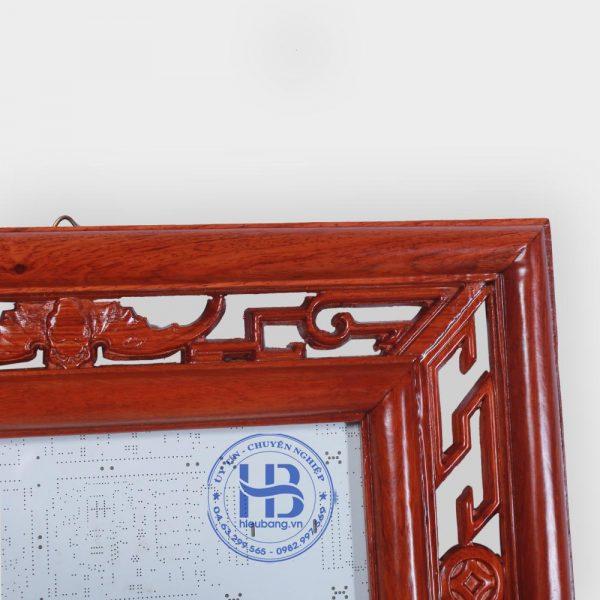 Khung ảnh thờ kép treo gỗ hương 20x30cm đục rơi
