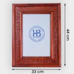 Khung ảnh thờ kép treo gỗ Hương đục nền 20x30cm đẹp tại Hà Nội
