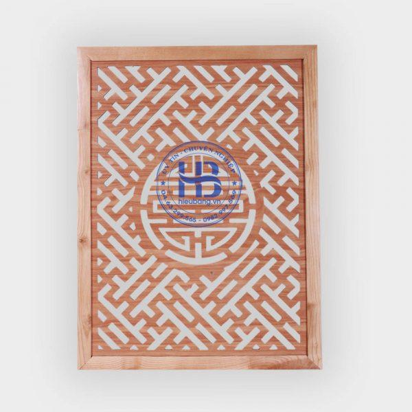 Vách ngăn bàn thờ treo gỗ sồi