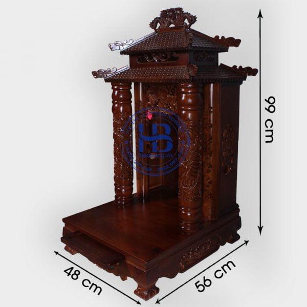 Bàn thờ thần tài 8 mái gỗ xoan đẹp giá rẻ ở Hà Nội