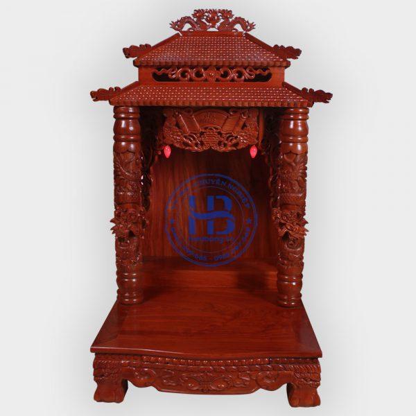 Bàn thờ thần tài gỗ Hương 8 mái cao cấp đẹp giá tốt ở Hà Nội