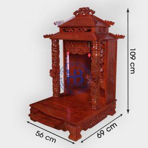 Bàn thờ thần tài gỗ Hương 8 mái 56cm cao cấp đẹp giá tốt ở Hà Nội