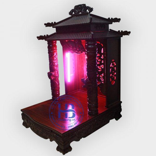 Bàn thờ thần tài gỗ Gụ 8 mái đẹp giá rẻ tại Hà Nội
