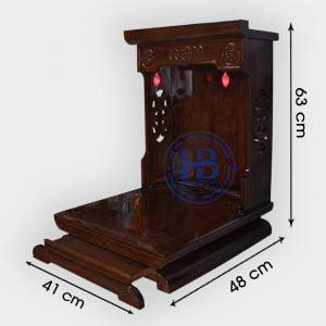 Bàn thờ thần tài gỗ sồi hiện đại 41cm màu óc chó