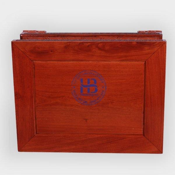 Đế kê chiện sen gỗ Hương 50x60cm
