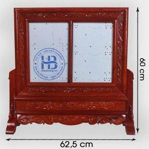Khung ảnh thờ kép đỗi nền gỗ Hương đẹp giá tốt tại Hà Nội