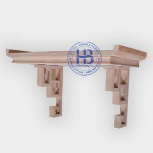 Bàn thờ treo tường gỗ sồi hàng mộc
