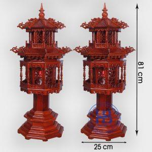 Đèn thờ cây gỗ Hương 81cm đẹp giá rẻ tại Hà Nội